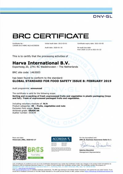 certificaat-brc-2020